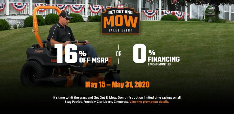 SCAG Power Equipment - Get Out and Mow Sales Event