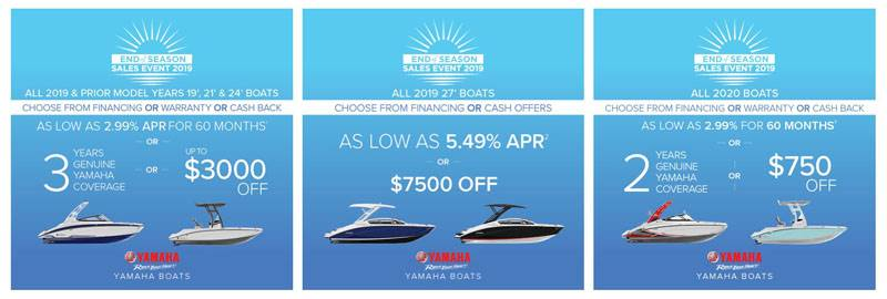 Yamaha Motor Corp., USA Yamaha Boats - End of Season Sales Event 2019