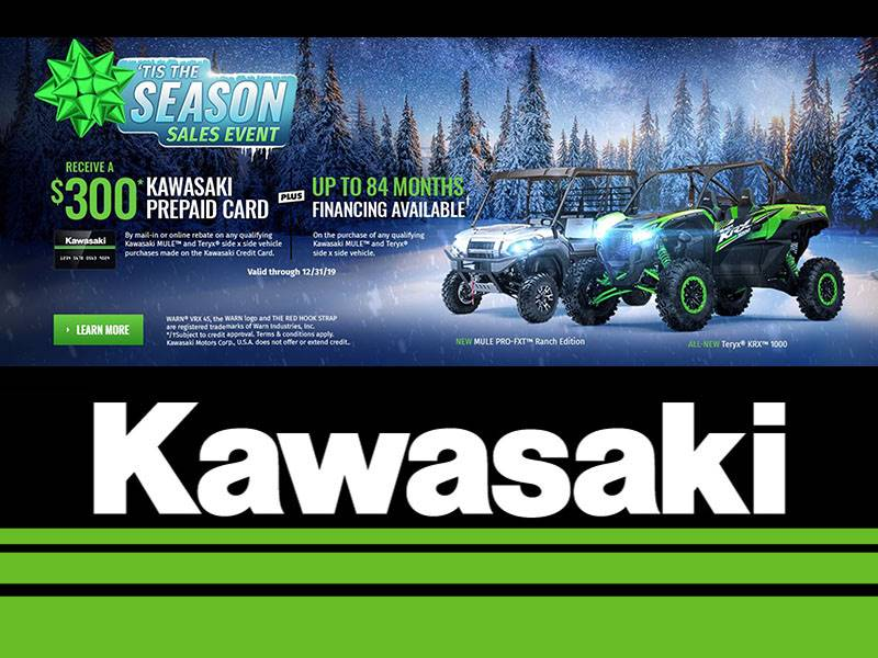 Kawasaki - 'Tis The Season - Great Offers On All Side X Sides
