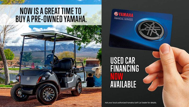 Yamaha Motor Corp., USA Yamaha Golf Car - Used Car Financing