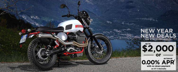 Moto Guzzi - New Year, New Deals on V7II Stornello