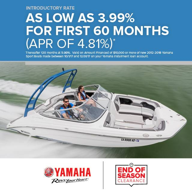 Yamaha Boats - Introductory Rate As Low As 3.99%