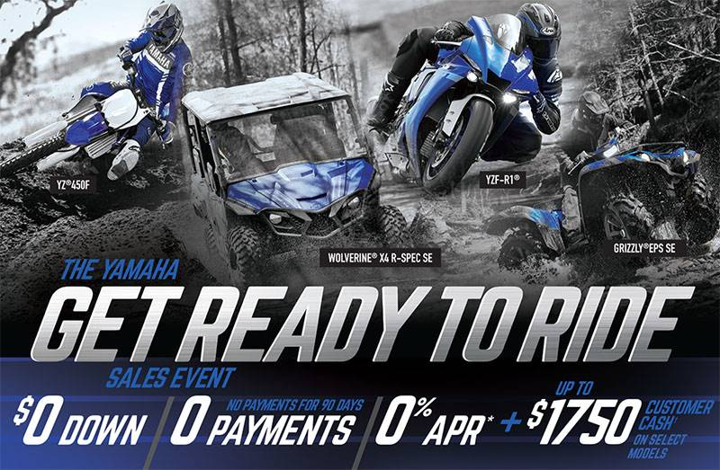 Yamaha Motor Corp., USA Yamaha - Get Out and Ride Sales Event - ATV