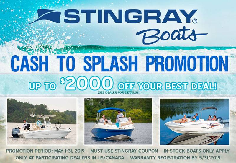 Stingray Boats - Cash to Splash Promotion