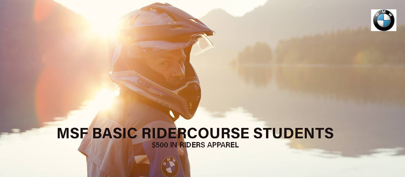 BMW - MSF BASIC RIDERCOURSE STUDENTS