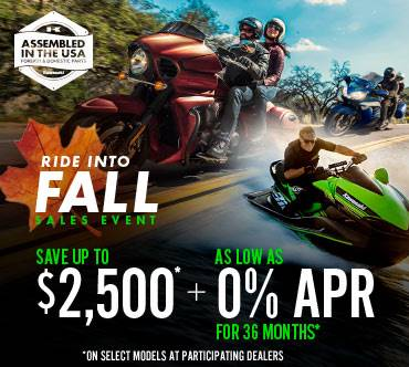Kawasaki RIDE INTO FALL SALES EVENT - 0% APR FOR 36 MONTHS