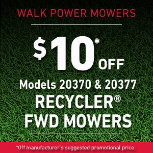 Toro - Walk Power Mowers $10* Off Select Recycler FWD Mowers