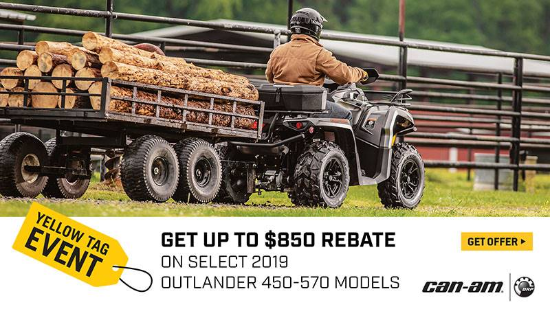 Can-Am - Yellow Tag Event - Outlander Rebates