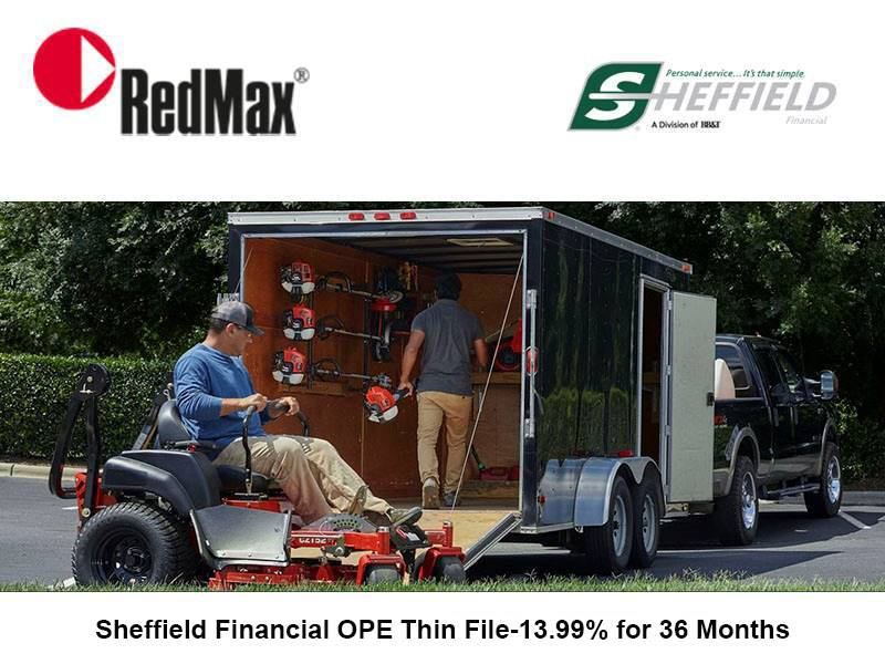 RedMax - Sheffield Financial OPE Thin File-13.99% for 36 Months