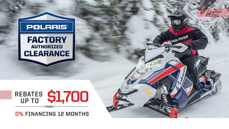 Polaris - Factory Authorized Clearance - Snowmobiles