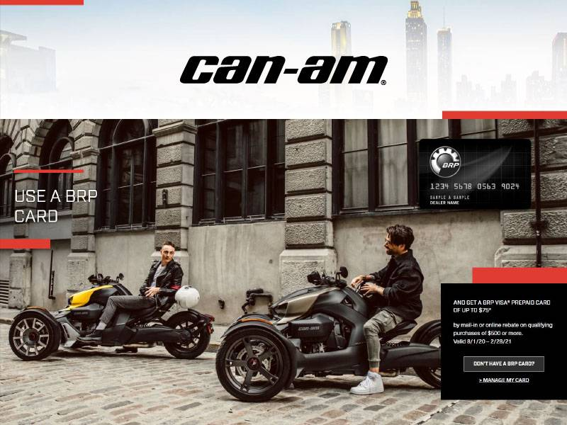 Can-Am On-Road - Get a BRP Visa® Prepaid Card of Up to $75