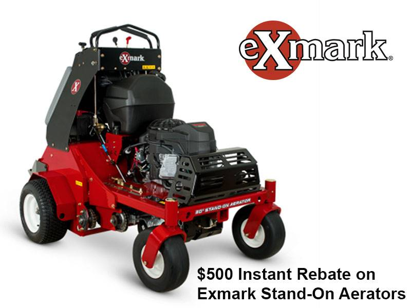 Exmark - $500 Instant Rebate on Exmark Stand-On Aerators