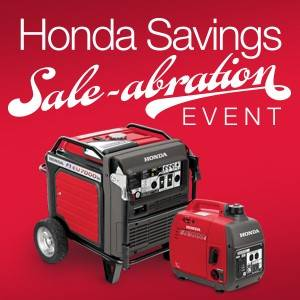 Honda Power Equipment Honda - Up to $200 Instant Savings on select Honda Generators