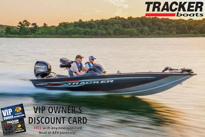 Tracker - VIP Owner's Discount Card FREE with any new qualified Boat purchase!