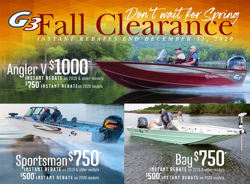 G3 - Fall Clearance Instant Rebates