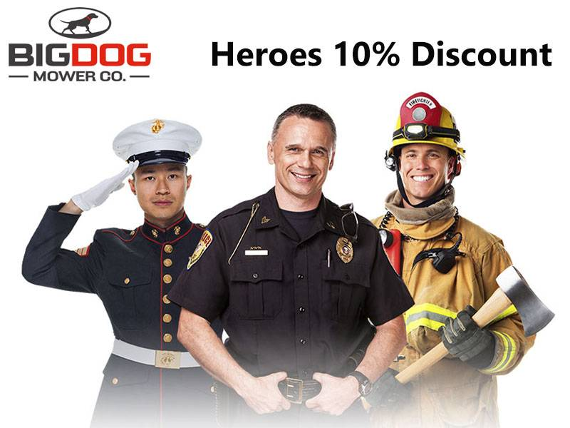 Big Dog Mowers - Heroes 10% Discount