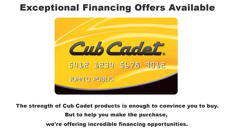 Cub Cadet - Financing Offers