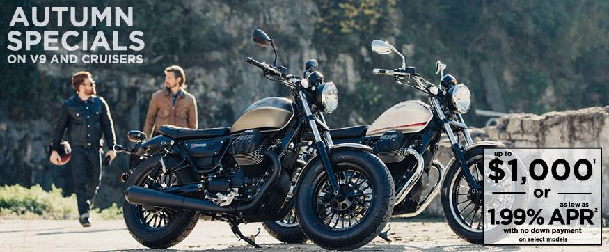 Moto Guzzi Autumn Specials on V9 and Cruisers