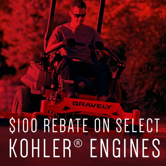 Gravely USA Gravely - $100 Rebate on Select Kohler Engines