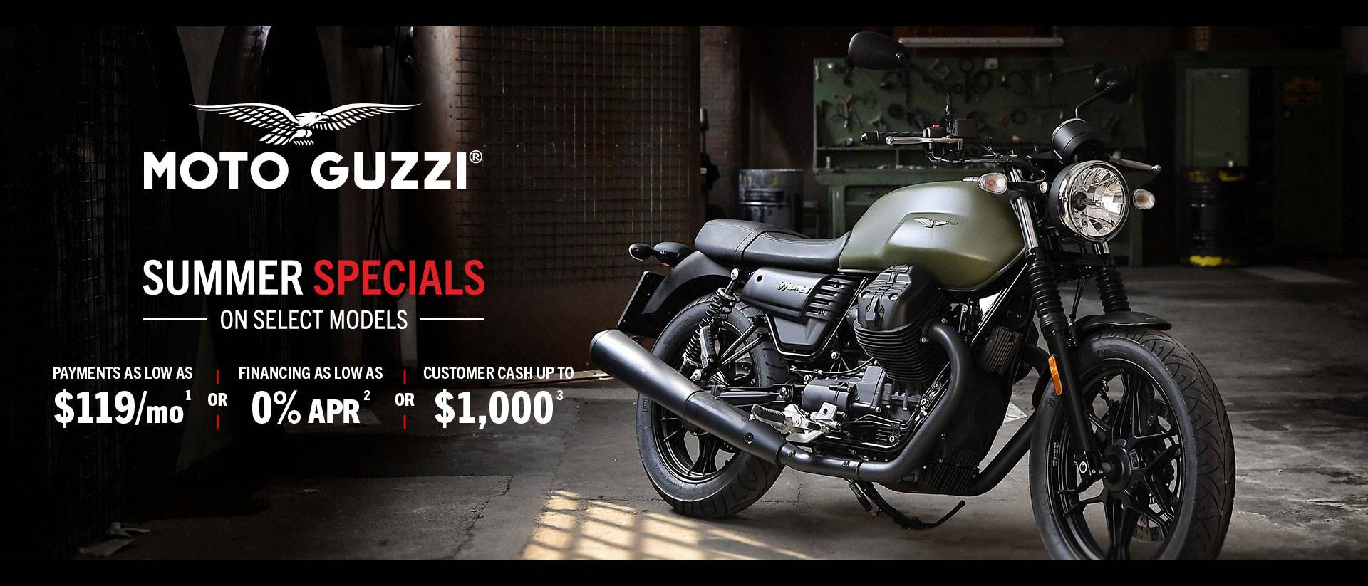 MOTO GUZZI SUMMER SPECIALS