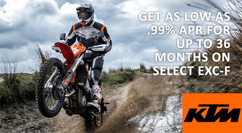 KTM - Get as low as .99% APR for up to 36 months