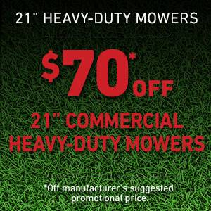 Toro - $70 USD Off Select 21 in. Heavy Duty Mowers