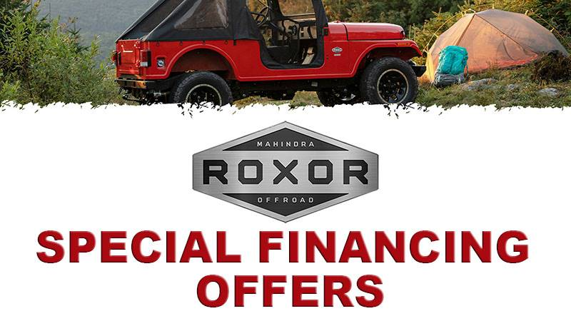 Mahindra Roxor - Special Finance Offers