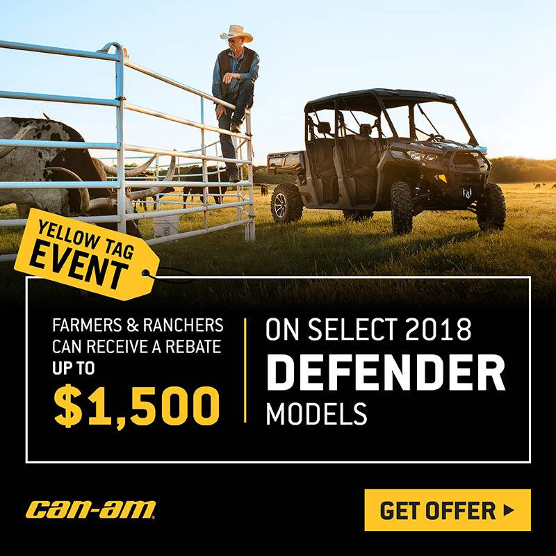 Can-Am - Yellow Tag Event - Defender Models MY16-MY18