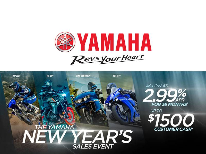 Yamaha - New Year's Sales Event - Motorcycles & Scooters