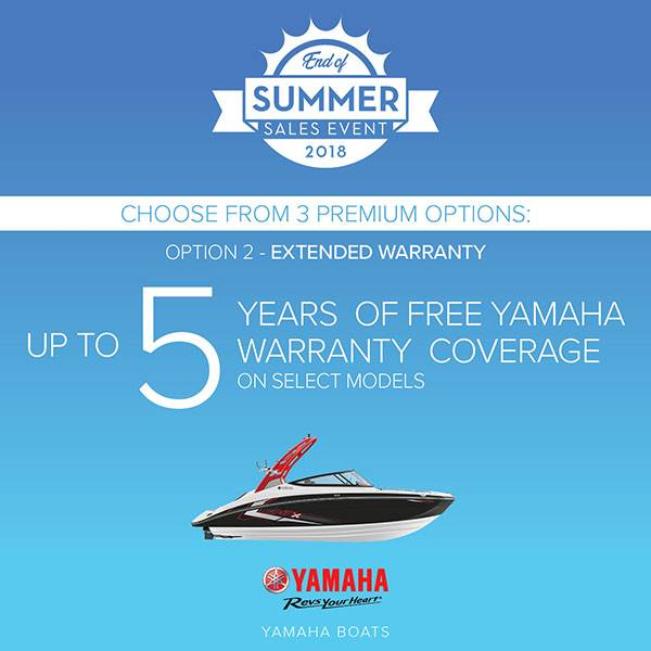 Yamaha Boats - End of Summer Sales Event - Option 2