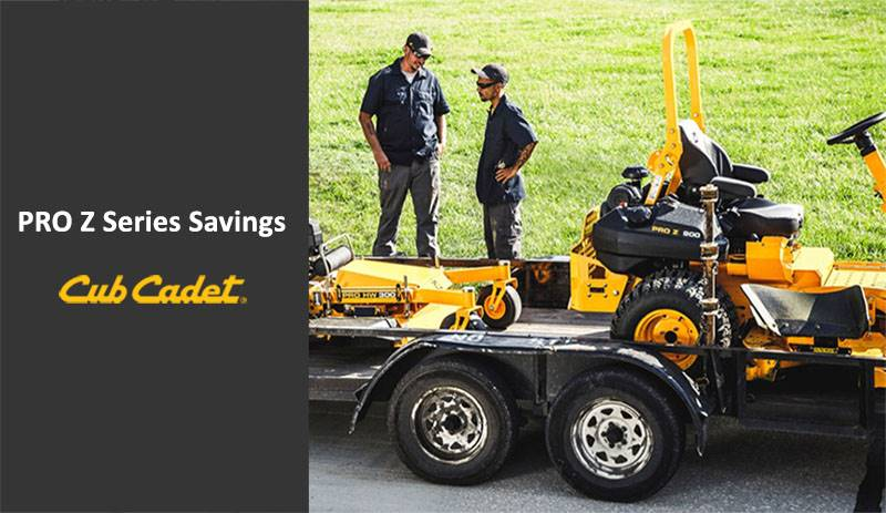 Cub Cadet - Special Offers - PRO Z Series Savings