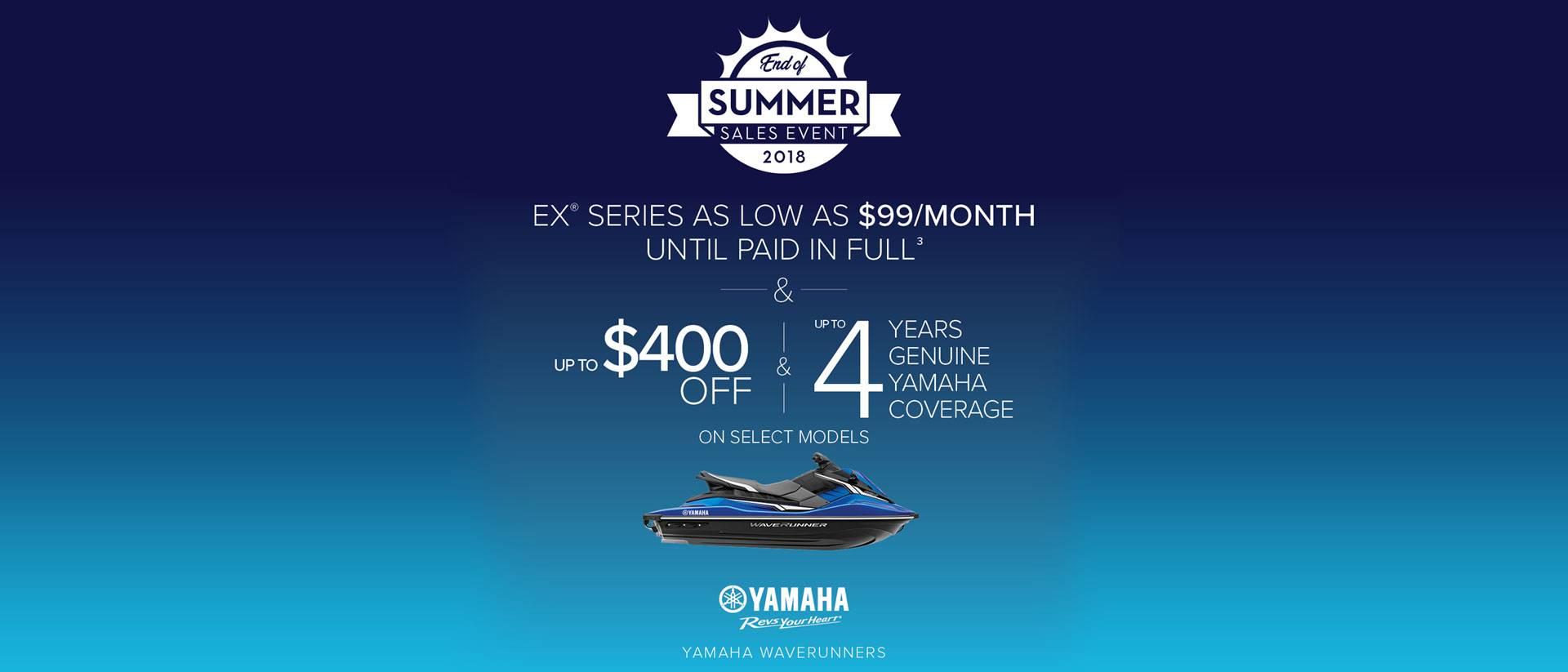 Yamaha Waverunners - EX Series - $99 per month