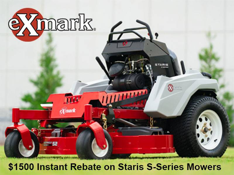 Exmark - $1500 Instant Rebate on Staris S-Series Mowers