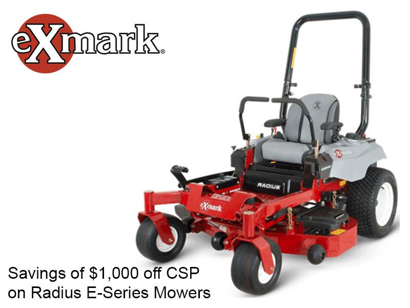 Exmark - Savings of $1,000 off CSP on Radius E-Series Mowers