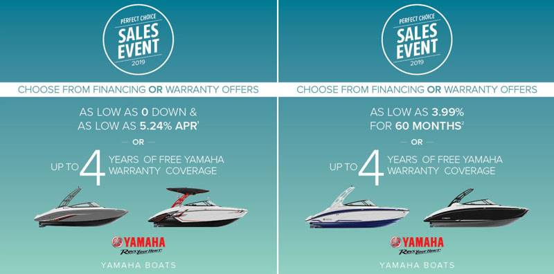 Yamaha Boats - Perfect Choice Sales Event 2019