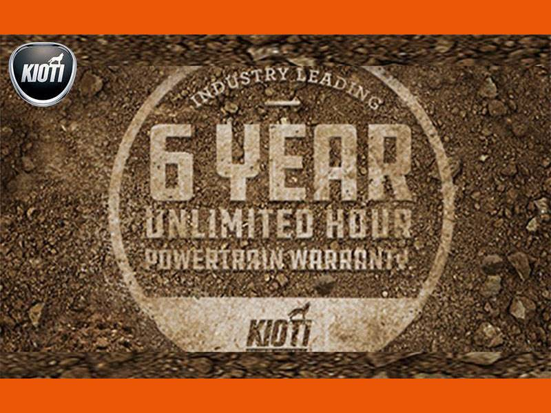 Kioti - 6 Year Unlimited Hour Warranty