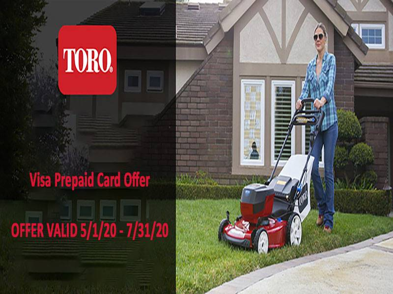 Toro - Visa Prepaid Card Offer for All New Toro Products