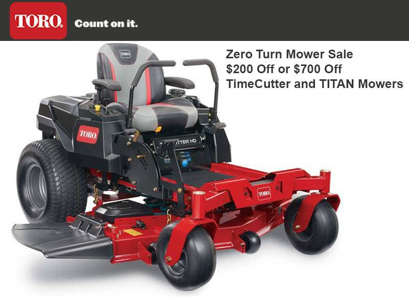 Toro -  Zero Turn Mower Sale $200 Off or $700 Off TimeCutter and TITAN Mowers