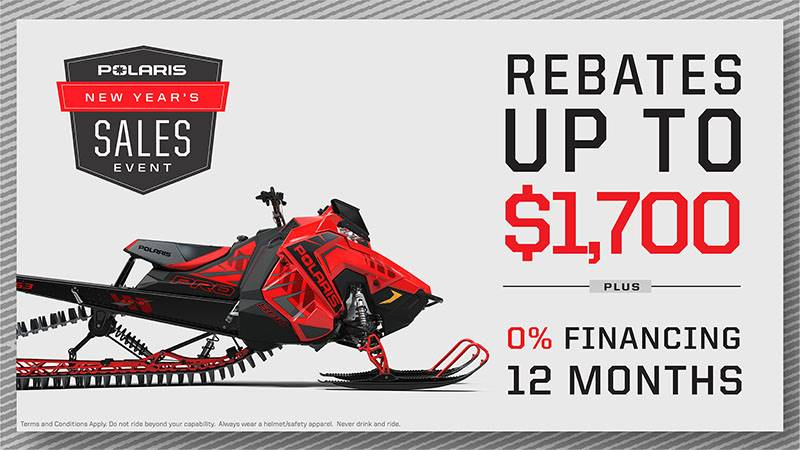 Polaris - New Year's Sales Event - Snowmobile Rebates