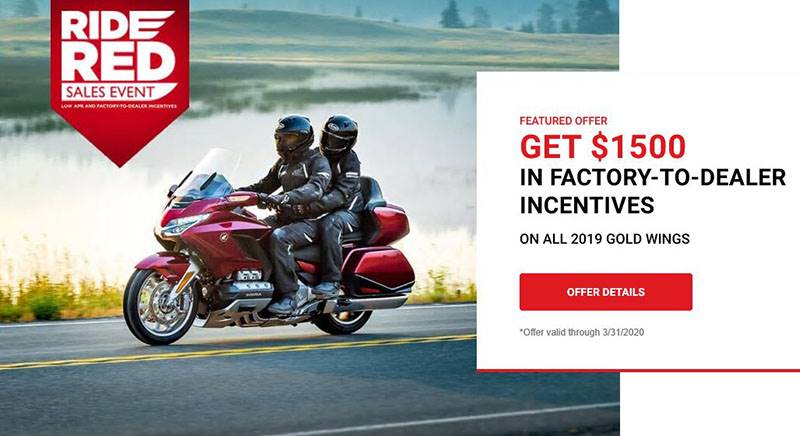 Honda - Ride Red Sales Event - All Motorcycles and Scooter