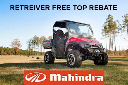 Mahindra - Retreiver Free Top Rebate