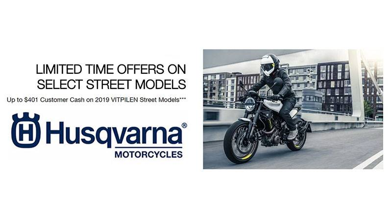 Husqvarna - Limited Time Offers on Select Street Models