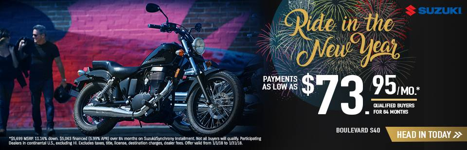 Suzuki Motor of America Inc. Suzuki Ride in the New Year with Cruiser and Touring Models