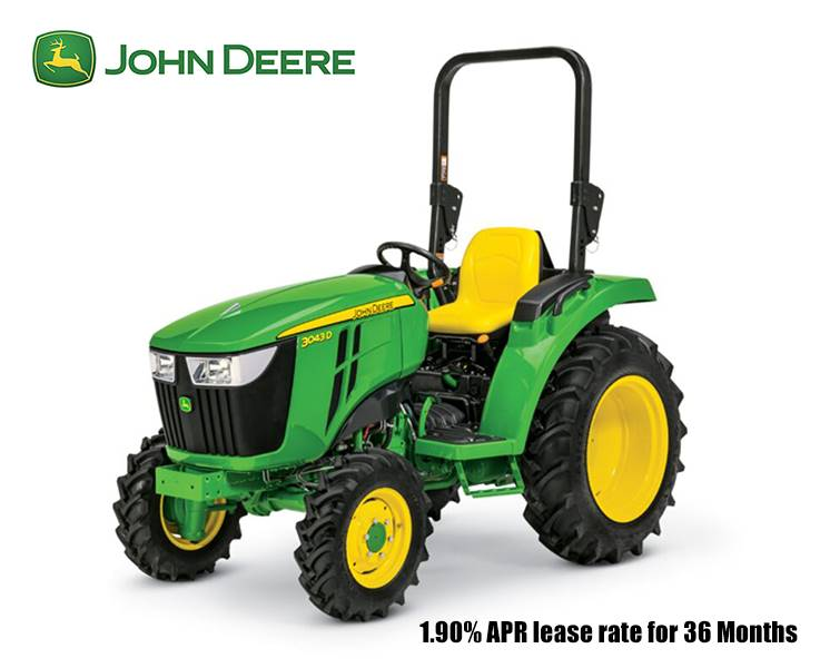 John Deere - 1.90% APR lease rate for 36 Months on 3 Series Compact Tractors