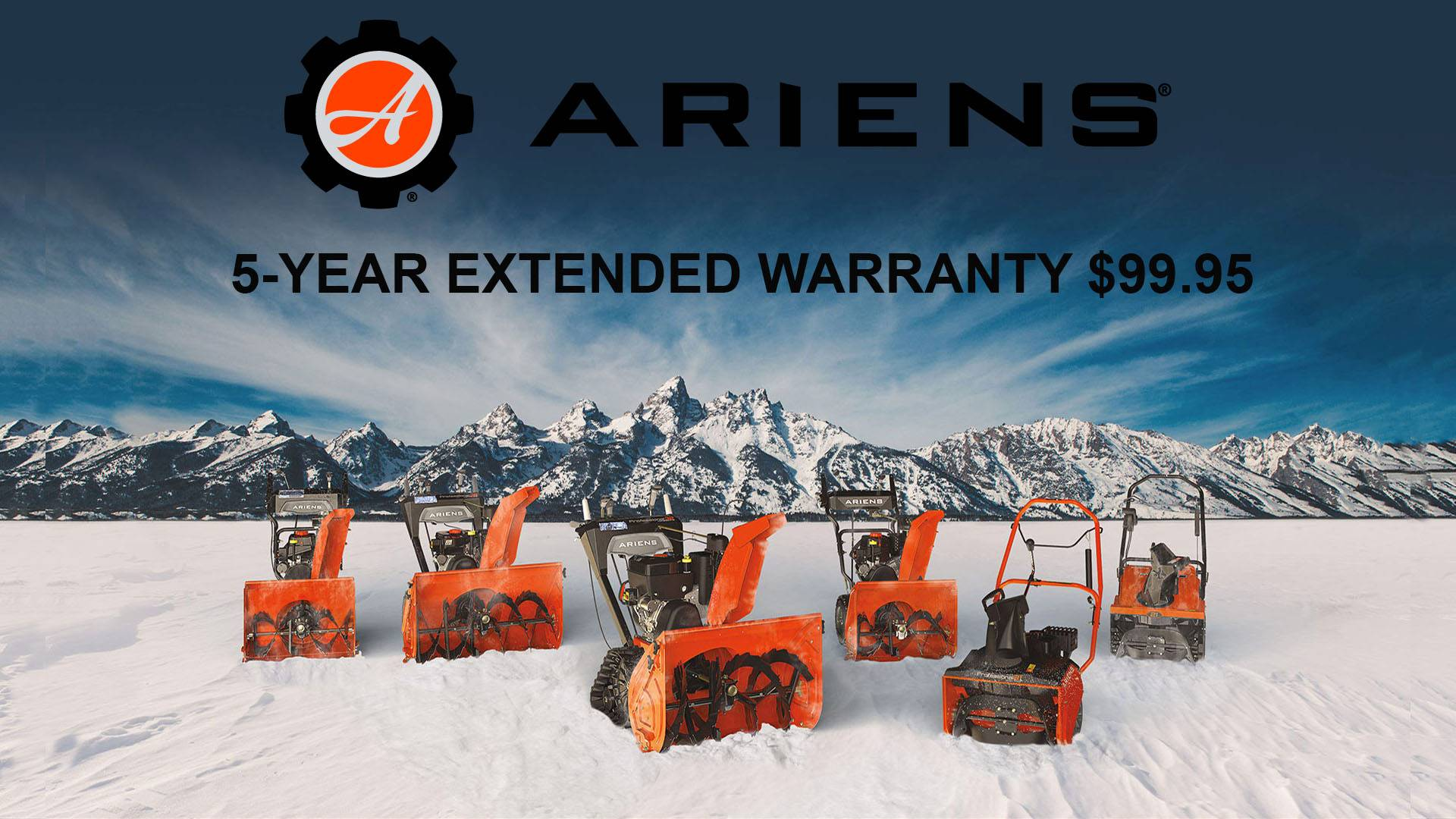 Ariens USA Ariens - 5-Year Extended Warranty $99.95