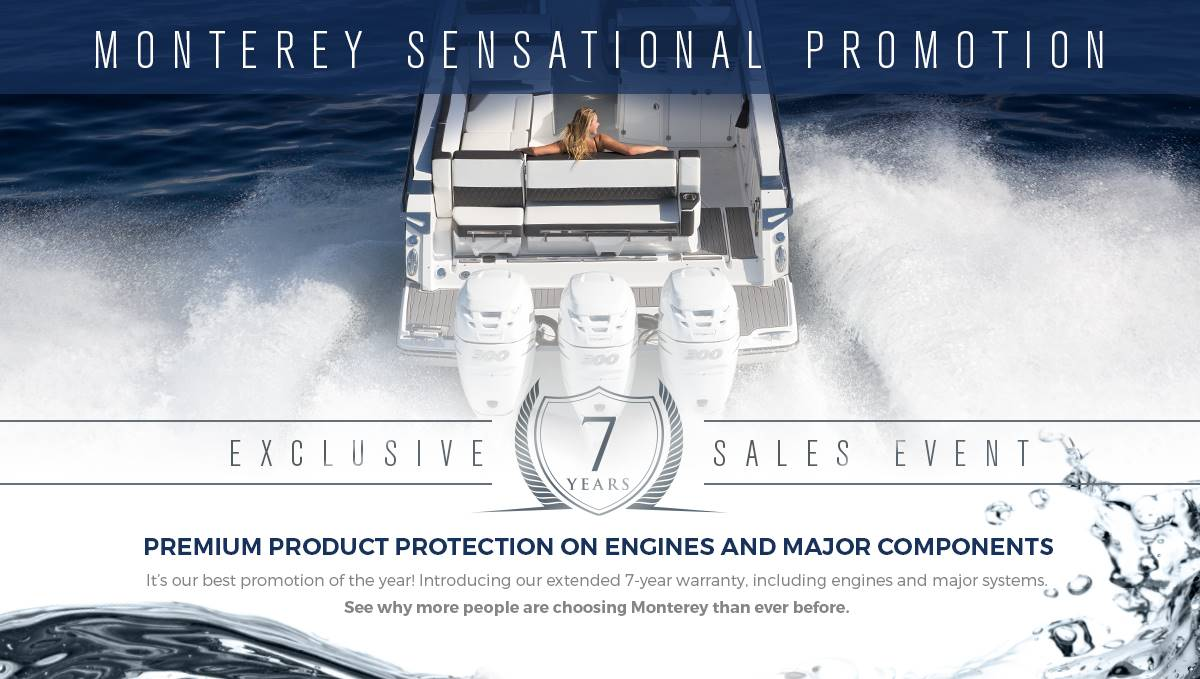 Monterey Sport Boat 7 Year Warranty Coverage
