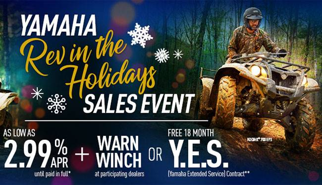 Yamaha Motor Corp., USA Yamaha - Rev in the Holidays Sales Event - Utility ATV