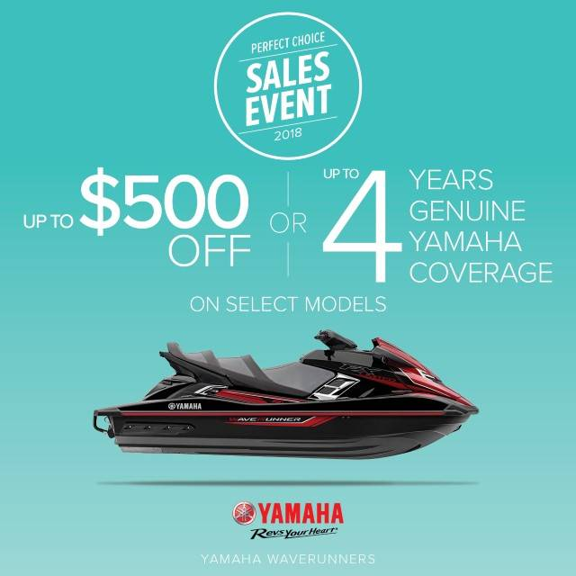 Yamaha Motor Corp., USA Yamaha Waverunners - Perfect Choice Sales Event - $500 Off