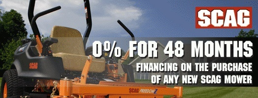 SCAG Power Equipment - Sheffield Financing Programs - 0% for 48 Months!