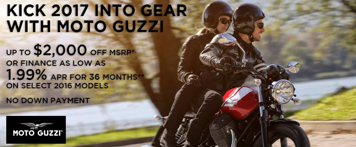Moto Guzzi KICK 2017 INTO GEAR WITH MOTO GUZZI
